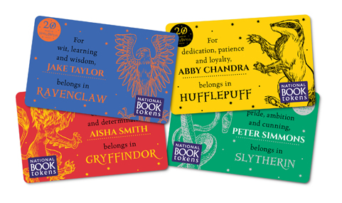 Personalised Harry Potter House gift cards