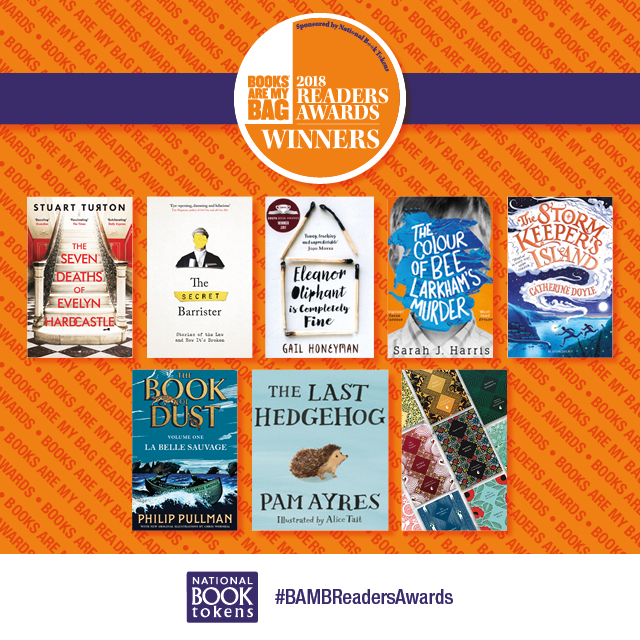 Winners of the Books Are My Bag Readers Awards 2018