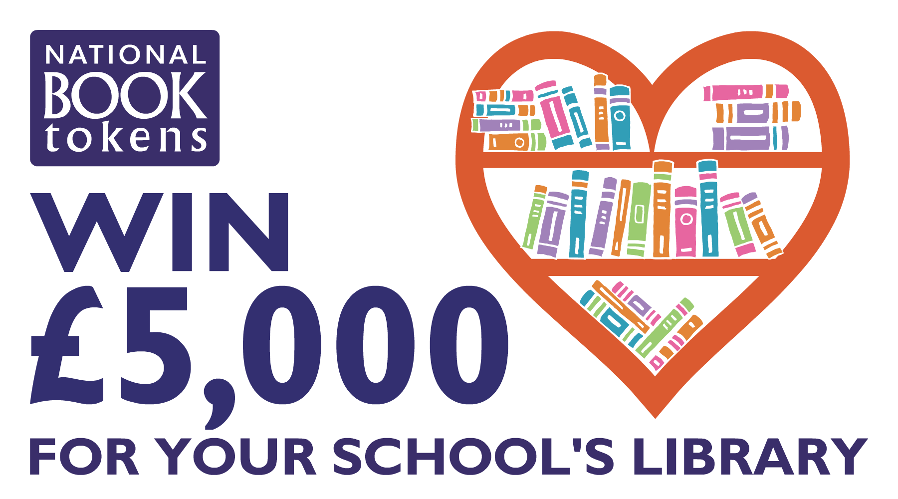 Win £5,000 for your school library with National Book Tokens