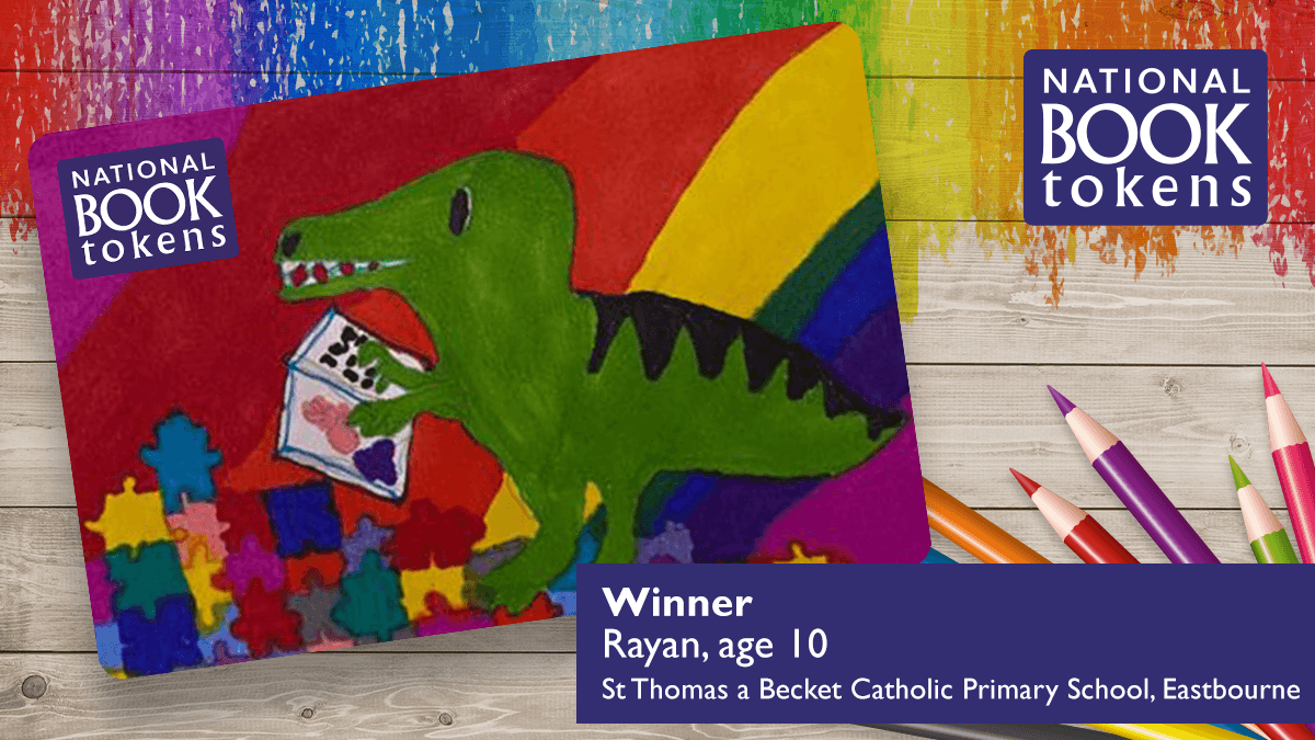 Rayan's winning National Book Token design
